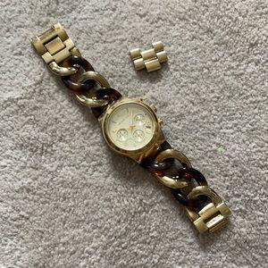 Michael Kors Watch Tortoise Chain Style